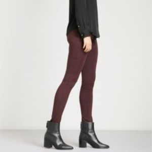 J Brand 485 Luxe Sateen Mid-Rise Super Skinny Jean